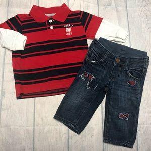 EUC GAP/Osk Kosh Outfit Set